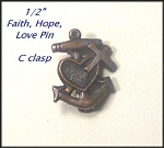 Antique Faith Hope And Charity Pin