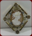Victorian Hand-carved Shell Bacchante Cameo Brooch