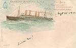 1900 Hamburg - Amerika Linie Postcard Litho Muhlmeister