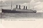 Norddeutscher Lloyd Kaiser Wilhelm Ii Postcard