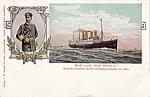 Kaiser Wilhelm Ii Ocean Liner And Portrait Postcard