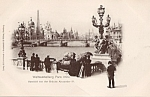 1900 Paris Expo Postcard View From Alexander Iii Bridge