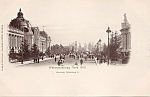 1900 Paris Exposition Postcard Avenue Nicolaus Ii