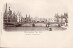 1900 Paris Exposition Postcard View Of The Seine River