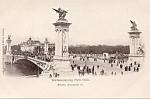 Brucke Alexander Iii Postcard 1900 Paris Expo