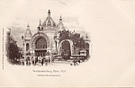 1900 Paris Expo Postcard Metal-industriepalast
