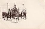 1900 Paris Exposition Postcard Der Haupteingang