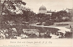 Central Park With Temple Beth-el Nyc Rppc Postcard