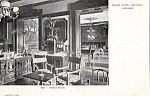 Grand Hotel National Lucerne Bar Billiard Room Rppc