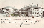 1907 Kyoto Hotel Japan Hand Tinted Rppc Postcard