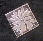 Lucite Reverse Carved Flower Button