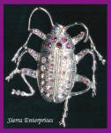 Rhinestone Insect Brooch