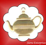 Large Tea Kettle Brass Charms