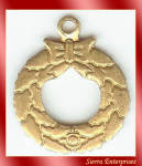 Christmas Wreath Brass Charms