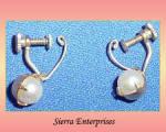 Vintage Japan Pearl Earrings