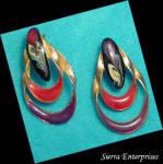 Fashionable Enamel Earrings