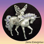 Signed Jj Jonette Jewelry Fairy With Unicorn Pin