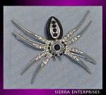 Black Widow Spider Pin