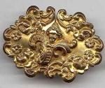 Nouveau Brassy Buckle W/applied Figural