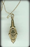 Victorian Gold-filled Lavalier Engraved Necklace