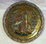 Fenton Carnival Glass Christmas Plate No. 1