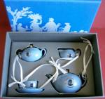 Wedgwood Cameo Teaset Ornament Original Box