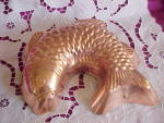 Antique Copper On Tin Fish German Mold