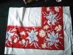 Vintage T Tiger Lilies Tablecloth