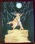 """storm"" - Original Nude Fantasy Drawing"