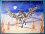 Born Of The Sky - Original Nude Fantasy Drawing