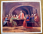 Lithograph Of The Last Supper 1920's W. C. Company