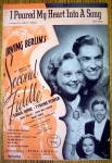 Sheet Music For 1939 I Poured My Heart Into A Song