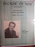 Sheet Music For 1940 Because Of You (Bob Crosby)