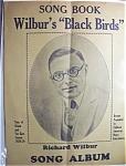 Sheet Music For 1928-29 Song Book Wilbur's Black Birds