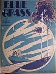 Sheet Music For 1928 Blue Grass