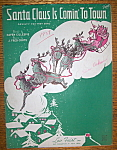 Sheet Music For 1934 Santa Claus Is Comin' To Town
