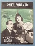 Sheet Music For 1940 Only Forever