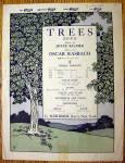 1922 Trees Song By Oscar Rasbach (Poem By Joyce Kilmer)