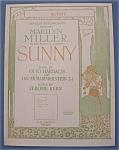 Sheet Music For 1925 Sunny