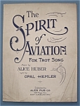 Sheet Music For 1929 The Spirit Of Aviation