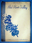 Sheet Music Of 1933 Red River Valley