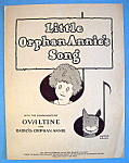 Sheet Music For 1931 Little Orphan Annie's Song