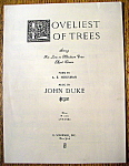 Sheet Music For 1934 Loveliest Of Trees