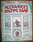 Sheet Music For 1939 Alexander's Ragtime Band