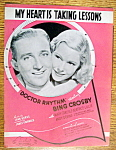 Sheet Music For 1938 My Heart Is Taking Lessons