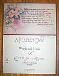 Sheet Music For 1939 A Perfect Day