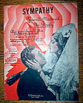 Sheet Music For 1937 Sympathy
