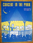 Sheet Music For 1939 Concert In The Park