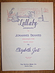 Sheet Music For 1927 Lullaby