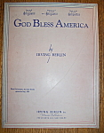 Sheet Music For 1939 God Bless America